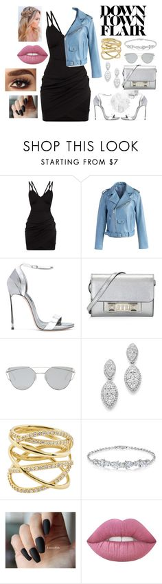 """""""Outfit #36"""" by sarah-gryffindor ❤ liked on Polyvore featuring Chicwish, Casadei, Proenza Schouler, Gentle Monster, Bloomingdale's and Lana"""