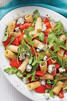 Five 5-Ingredient Cold Pasta Salads: Tomato-and-Gorgonzola Pasta Salad
