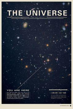 The Universe - Space Poster Design Inspiration // Print | by Michael Gottschalk