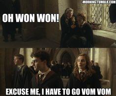 Amazing Images from PicsList.com - harry potter lavender brown ron weasley hermione granger vom vom won won hogwarts dating...
