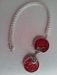 Collar doble rojo cadena 6,99€
