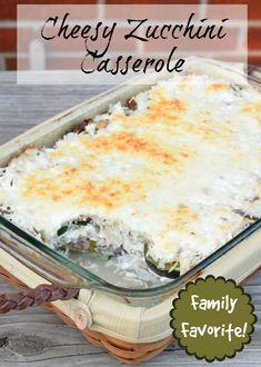 Easy cheesy zucchini casserole recipe that is sure to please!
