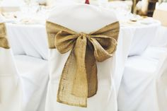 Hessian Chair Sash : Somerset Wedding Photography : Anna & Matt : Part Three