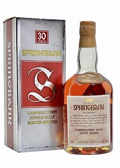 Springbank Whisky, Scotch Whisky, Smoked Whiskey, Bourbon Whiskey, World Of Whisky, Single Malt Whisky, Old Bottles, 30 Years Old, Whiskey Bottle