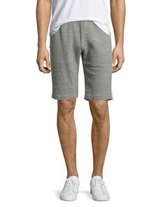 THEORY RUMOR S AXIS TERRY JOGGER SHORTS, CHARCOAL. #theory #cloth #