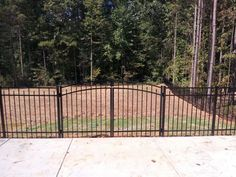 Wrought Iron Fence Stanton Gate Black Amco Fencing And
