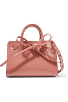 Mansur Gavriel - Sun Mini Mini Patent-leather Tote - Pink - one size