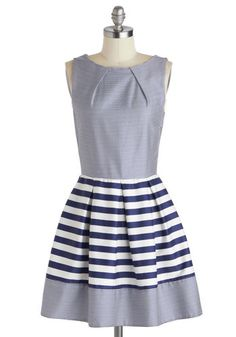 Stripes are always an easy way to add nautical flair to your look. The Shoreline Soiree Dress in Stripes is no exception! Take a tip from the ModStylists, and pair it with red flats and an ivory headband for a classic ensemble.