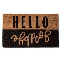 Hello Goodbye Doormat 2'x3' Multicolored - Room Essentials, Red Velvet Opaque