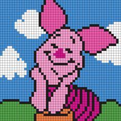 Piglet (Square) Perler Bead Pattern / Bead Sprite