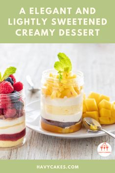 """A elegant and lightly sweetened creamy dessert  Nowadays, panna cotta or """"cooked cream"""" becomes a popular dessert all over the world. Not only because it includes very few ingredients and easy to make, but also due to its rich and silky smooth. In this article, we are going to show you how to make Panna cotta at  home   #MangoPannaCotta #MangoPannaCottarecipes #havycakes #pannacottarecipes Mango Panna Cotta, Mango Cake, Small Spoon, Few Ingredients, Food To Make, Cake Recipes, Easy Meals, Smooth, Popular"""