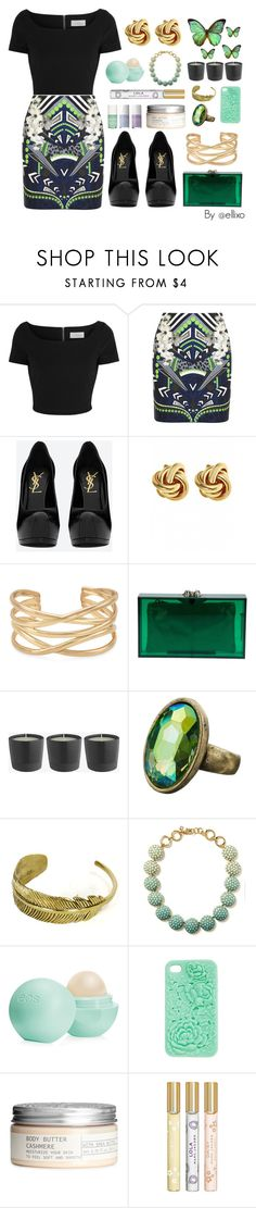 """Night Out"" by ellixo ❤ liked on Polyvore featuring Preen, Emma Cook, Yves Saint Laurent, Fornash, Bodas, Stella & Dot, Charlotte Olympia, Monsoon, Monserat De Lucca and Banana Republic"