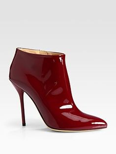 Gucci - Noah Patent Leather Ankle Boots