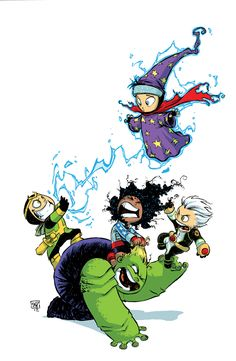Avengers Variant cover art by Skottie Young