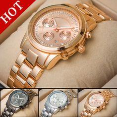9d6651664ac Online Shop Горячая распродажа золото марка часы женщины роскошных