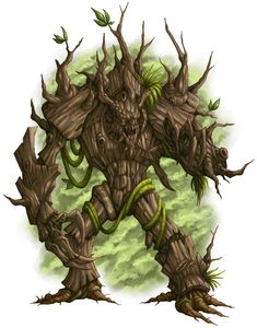 Wood giants tamed and rehabilitated by Enduliva to help her guard her forests, and jungles Fantasy Races, Fantasy Rpg, Medieval Fantasy, Fantasy Artwork, Fantasy World, Forest Creatures, Magical Creatures, Fantasy Creatures, Fantasy Monster