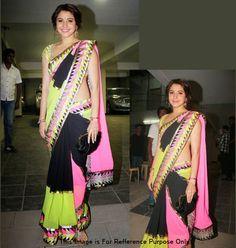 Anushka Sharma Multi Color Bollywood Replica Saree