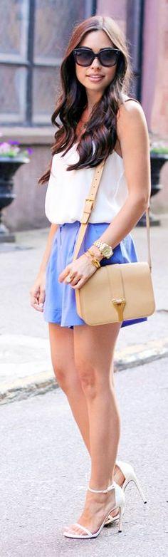Zimmermann Blue Womens Loose Silk Tuck Shorts