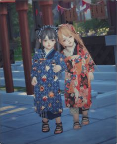Toddler Japanese Traditional Costume for The Sims 4