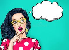 pop art Thinking young sexy woman with open mouth looking up on empty bubble.Pop Art girl is thought and holding hand near the face Royalty Free Stock Photo Pop Art Drawing, Art Drawings, Farmasi Cosmetics, Pop Art Women, Pop Art Wallpaper, Posters Vintage, Pop Art Illustration, Girl Illustrations, Pop Art Girl