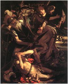 """Michelangelo Merisi """"Caravaggio"""" (1573 - 1610)  Conversión camino de Damasco (1600)"""