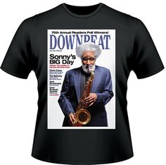 Our exclusive heavyweight cotton Sonny Rollins T-shirt - Black https://subforms.com/downbeat/store/product.asp?id=159