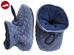 Melton Krabbelschuh Booties - Soft Waves, Baby Jungen Krabbelschuhe, Blau (Dark denim 275), Gr. 22/23 (*Partner-Link)