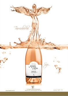 LA Wines - design by Koray Cengiz Wine Advertising, Creative Advertising, Wine Photography, Advertising Photography, Wine Poster, Web Design, Wine Shelves, Bottle Packaging, Sparkling Wine