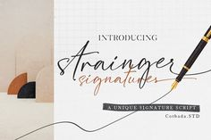 Strainger Signatures Font #script #signatures #handlettering Handwritten Fonts, Calligraphy Fonts, Script Fonts, New Fonts, Slab Serif, Signature Fonts, Premium Fonts, School Design, Look Fashion