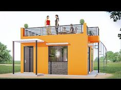 ARKIX3D - YouTube Small House Layout, Small Modern House Plans, Simple House Plans, House Layouts, Box House Design, Village House Design, Small House Design, Backyard Guest Houses, Rooftop Terrace Design