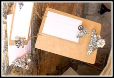 LOVE. Blingin' clipboard. From teresacollins.typepad.com