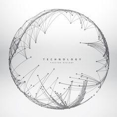 Technology background made with circular mesh Free Vector