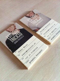 interesting business cards. looks like lovely stock as well.