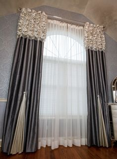 Tuscan design – Mediterranean Home Decor Curtains And Draperies, Elegant Curtains, Beautiful Curtains, Modern Curtains, Window Drapes, Window Coverings, Drapery, Curtain Styles, Curtain Designs