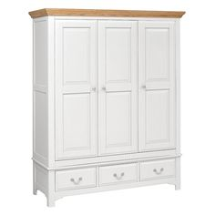 Clermont Grey Painted Triple Wardrobe with Drawer including free delivery Wardrobe Sale, Wardrobe Drawers, Wardrobe Cabinets, Bedroom Wardrobe, Grey Painted Furniture, Dark Furniture, Bedroom Furniture, Wooden Furniture, Triple Wardrobe