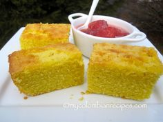 Mantecada is a traditional Colombian butter corn cake that is very popular in the capital of the country, Bogotá. This cake tastes best when freshly prepared Colombian Desserts, My Colombian Recipes, Colombian Cuisine, Colombian Dishes, Filipino Desserts, Sicilian Recipes, Cuban Recipes, Sicilian Food, Mantecadas Recipe