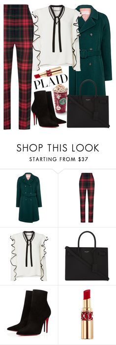 """""""Plaid"""" by mihai-theodora ❤ liked on Polyvore featuring Paul & Joe Sister, Burberry, Alexis, Yves Saint Laurent and Christian Louboutin"""