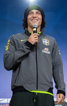 David Luiz Photos: Brazil Training Session