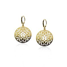 89198d6c0c8f Gold Plated Silver Rosetta Earrings