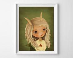 Capricorn Print - Capricorn Illustration - Zodiac Art Print