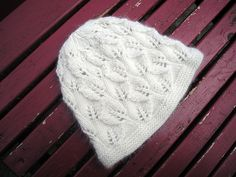 Lace Leaf Hat, DK weight, free pattern on Ravelry.