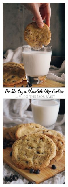 Layered Chocolate Chip Cookies - Living The Gourmet