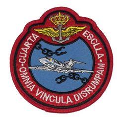 Escudo bordado 4ª Omnia Vincula Disrumpam Armada Española, Airemilitar Spanish Armada, Porsche Logo, Air Force, Military Insignia, Military History, Flags, Patches, Coat Of Arms, Spanish