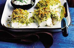PESCADO AL HORNO CON COSTRA DE HIERBAS Y LIMON (baked fish with a herb and lemon crust)