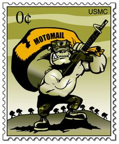 "MotoMail.US  ""Family and friends of deployed Marines in Afghanistan & Iraq can NOW send a letter   to be downloaded, printed, and ready for delivery, usually within 24 hours.  THE SERVICE IS FREE, PRIVATE and SECURE."""