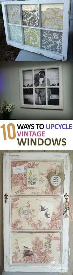 Diy, diy home projects, home décor, home, dream home, vintage window projects, decorating with old windows. #DIYHomeDecorFrames