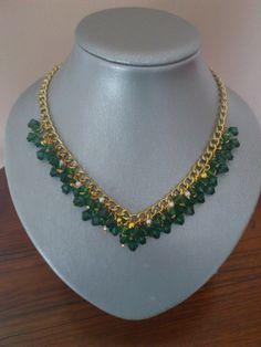 gargantilla green, Bisutería, Collares, Complementos, Collares si os gusta REPINEAR xfavor