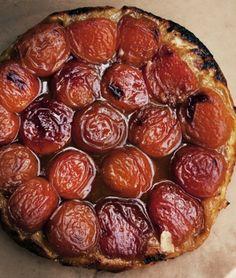 Taste of summer: apricot tarte tatin.