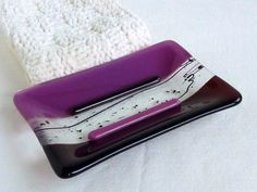Soap Dish in Dark Plum.