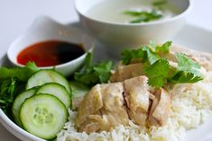 Singapore Chicken Rice -- really simple but very good